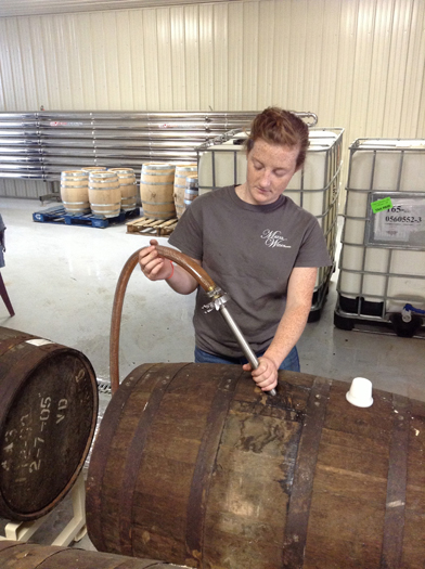 Emptying Barrels.
