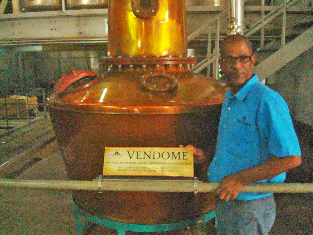 Vendome Pot Still at St Lucia Distillers Ltd.