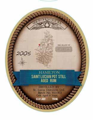 Saint Lucia Pot Still 8 Year Old Cask Strength Rum 2005 SOLD OUT
