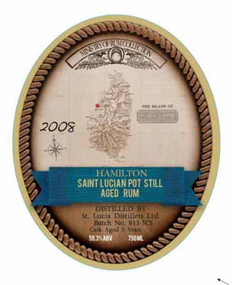 Saint Lucia Pot Still 5 Year Old Cask Strength Rum 2008 SOLD OUT