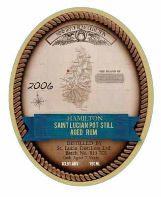 Saint Lucia Pot Still 7 Year Old Cask Strength Rum 2006
