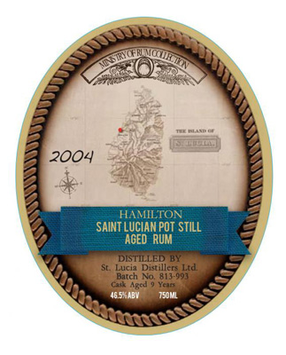 Saint Lucia Pot Still 9 Year Old Rum 93 proof 2004