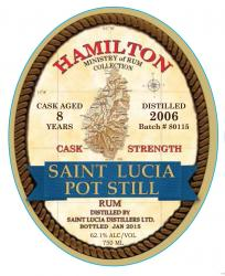 Saint Lucia Pot Still 8 Year Old Cask Strength Rum 2006